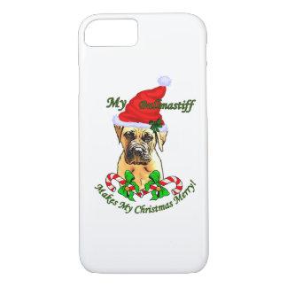 Bullmastiff Christmas Merry iPhone 7 Case