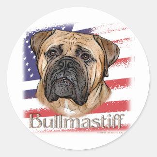 Bullmastiff Classic Round Sticker
