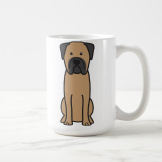 Bullmastiff Dog Cartoon Coffee Mug