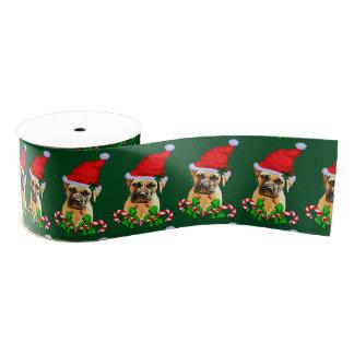 Bullmastiff Dog Christmas Grosgrain Ribbon