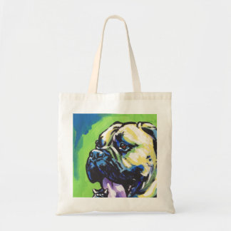 Bullmastiff Dog fun bright pop art Tote Bag