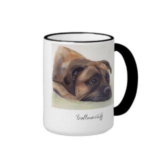 Bullmastiff Dog Painted in Watercolour Coffee Mug