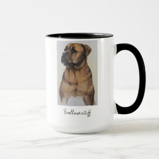 Bullmastiff Dog Painted in Watercolour Mug