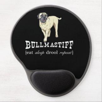 "Bullmastiff ""eat sleep drool repeat"" Gel Mousepad"