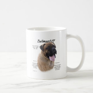 Bullmastiff (fawn) History Design Coffee Mug