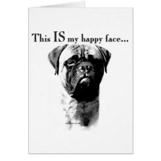 Bullmastiff Happy Face Card