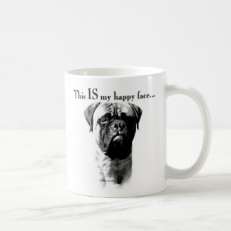 Bullmastiff Happy Face Coffee Mug