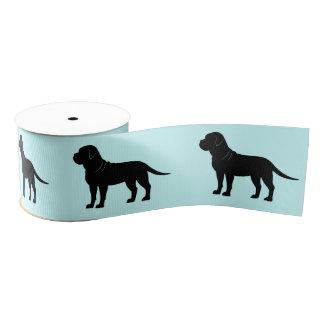"Bullmastiff in Silhouette 3"" Grosgrain Ribbon"