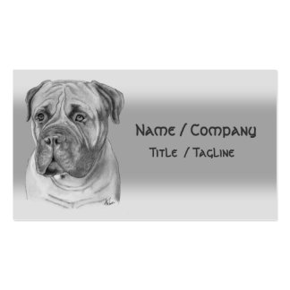 Bullmastiff Pack Of Standard Business Cards