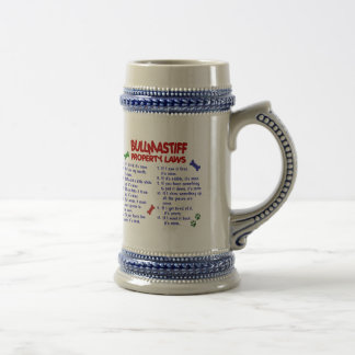 BULLMASTIFF Property Laws 2 Beer Stein