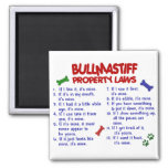 BULLMASTIFF Property Laws 2 Fridge Magnets