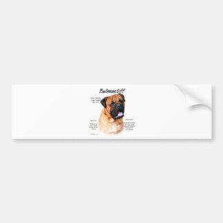 Bullmastiff (red) History Design Bumper Sticker