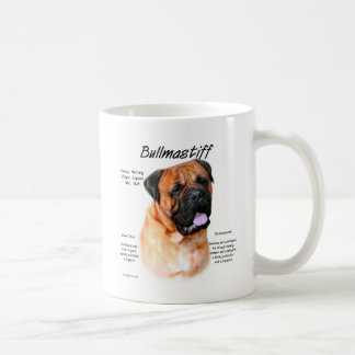 Bullmastiff (red) History Design Coffee Mug