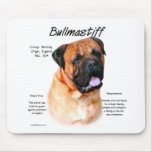 Bullmastiff (red) History Design Mouse Mat