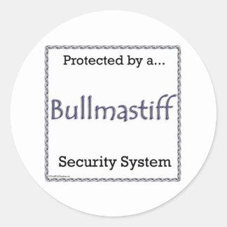 Bullmastiff Security System Sticker