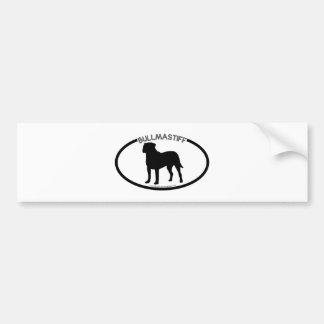 Bullmastiff Silhouette Black Bumper Sticker