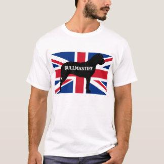 bullmastiff silhouette name flag United_Kingdom.pn T-Shirt