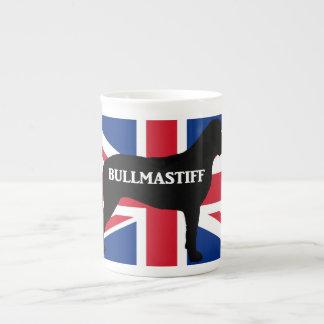 bullmastiff silhouette name flag United_Kingdom.pn Tea Cup