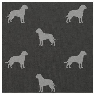 Bullmastiff Silhouettes Pattern Fabric