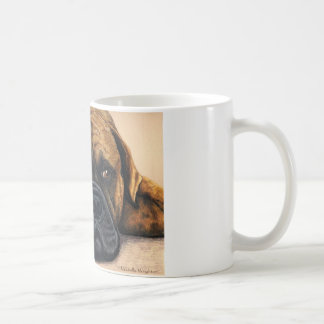 Bullmastiff Waiting - Dog Breed Art Coffee Mug