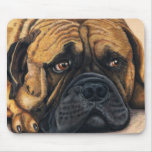 Bullmastiff Waiting - Dog Breed Art Mouse Pads