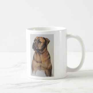 "Bullmastiff watercolor with ""Cheer up"" text Coffee Mug"