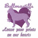 Bullmastiffs Leave Paw Prints Embroidered Shirt