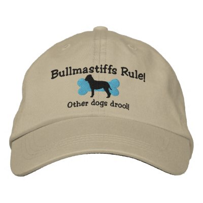 Bullmastiffs Rule Embroidered Hat
