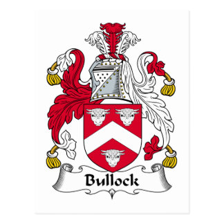 Bullock Family Crest Postcard