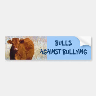 Bulls Against Bullying #3 of 14 Different Bumper Sticker