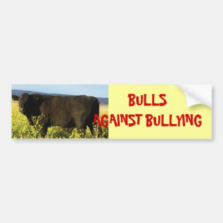 Bulls Against Bullying #6 of 14 Different Bumper Sticker
