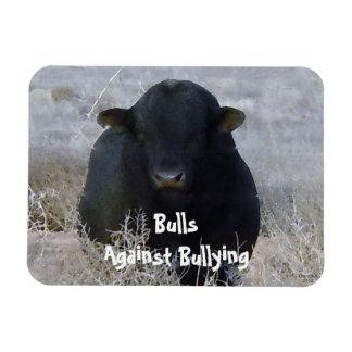 Bulls Against Bullying - Black - Cowboy Parenting Flexible Magnet