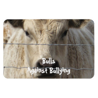 Bulls Against Bullying - Fence - Cowboy Parenting Rectangle Magnet