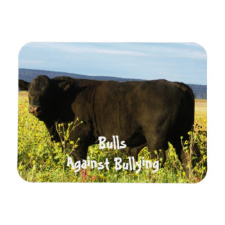 Bulls Against Bullying - Field - Cowboy Parenting Flexible Magnet