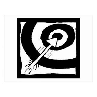 Bulls Eye Arrow - nd Postcard