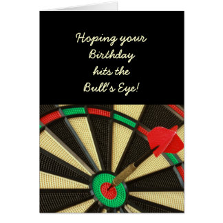 Bull's Eye Birthday Card