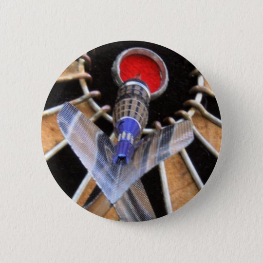Bulls eye! Dart piercing board 6 Cm Round Badge