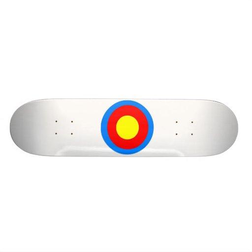 bulls eye skate skate board deck