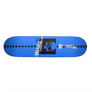 Bulls Eye Skull Skateboarding Graphic Skate Board Deck