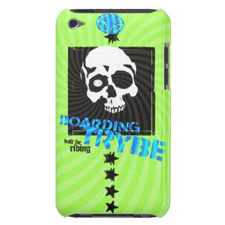 Bulls Eye Skull Skateboarding Graphic Barely There iPod Cases