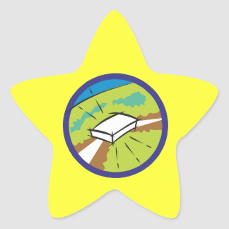 Bulls Eye Star Sticker