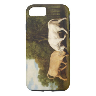 Bulls Fighting, 1786 (oil on panel) iPhone 7 Case