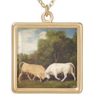 Bulls Fighting, 1786 (oil on panel) Pendants