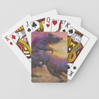 Bulls fightint in the sun - Amazing Mexico cards