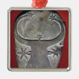 Bull's head palette christmas ornament