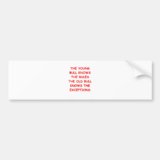 BULLS.png Bumper Sticker
