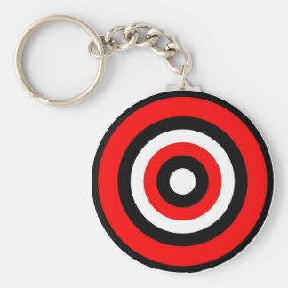 Bullseye Basic Round Button Key Ring