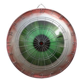 BULLSEYE Funny, Freaky Green Eyeball Dartboard