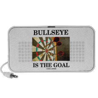 Bullseye Is The Goal (Three Darts On Dartboard) iPod Speakers