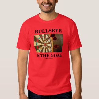 Bullseye Is The Goal (Three Darts On Dartboard) T Shirt